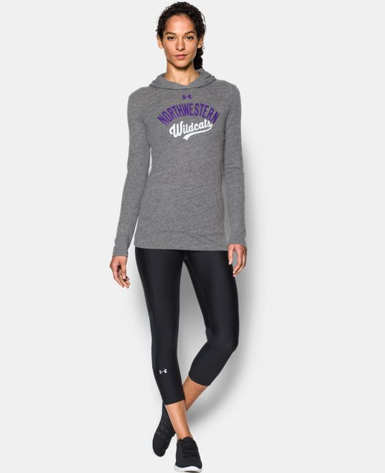 Women's Northwestern UA Charged Cotton® Tri-Blend Hoodie  1 Color $44.99