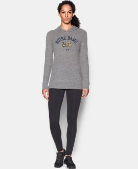 New Arrival Women's Notre Dame UA Charged Cotton® Tri-Blend Hoodie  1 Color $44.99