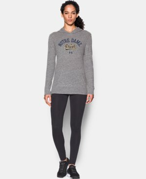Women's Notre Dame UA Charged Cotton® Tri-Blend Hoodie  1 Color $33.99
