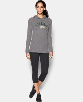 New Arrival Women's South Florida UA Charged Cotton® Tri-Blend Hoodie  1 Color $44.99