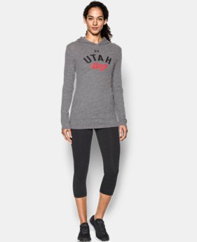New Arrival Women's Utah UA Charged Cotton® Tri-Blend Hoodie  1 Color $44.99