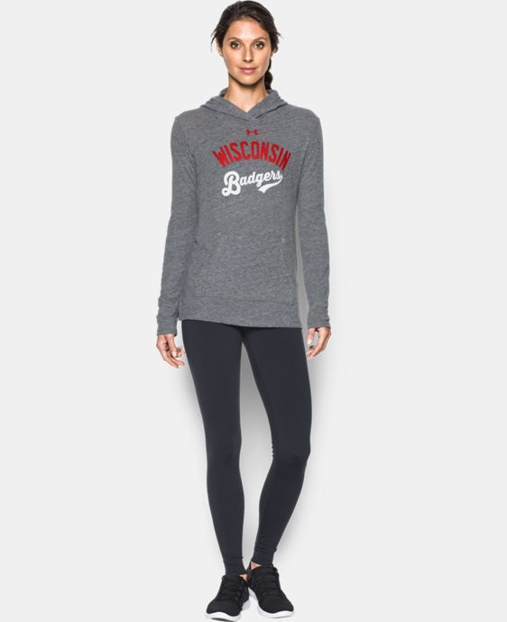 Women's Wisconsin UA Charged Cotton® Tri-Blend Hoodie LIMITED TIME: FREE U.S. SHIPPING 1 Color $44.99