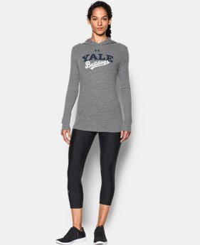 New Arrival Women's Yale UA Charged Cotton® Tri-Blend Hoodie  1 Color $44.99