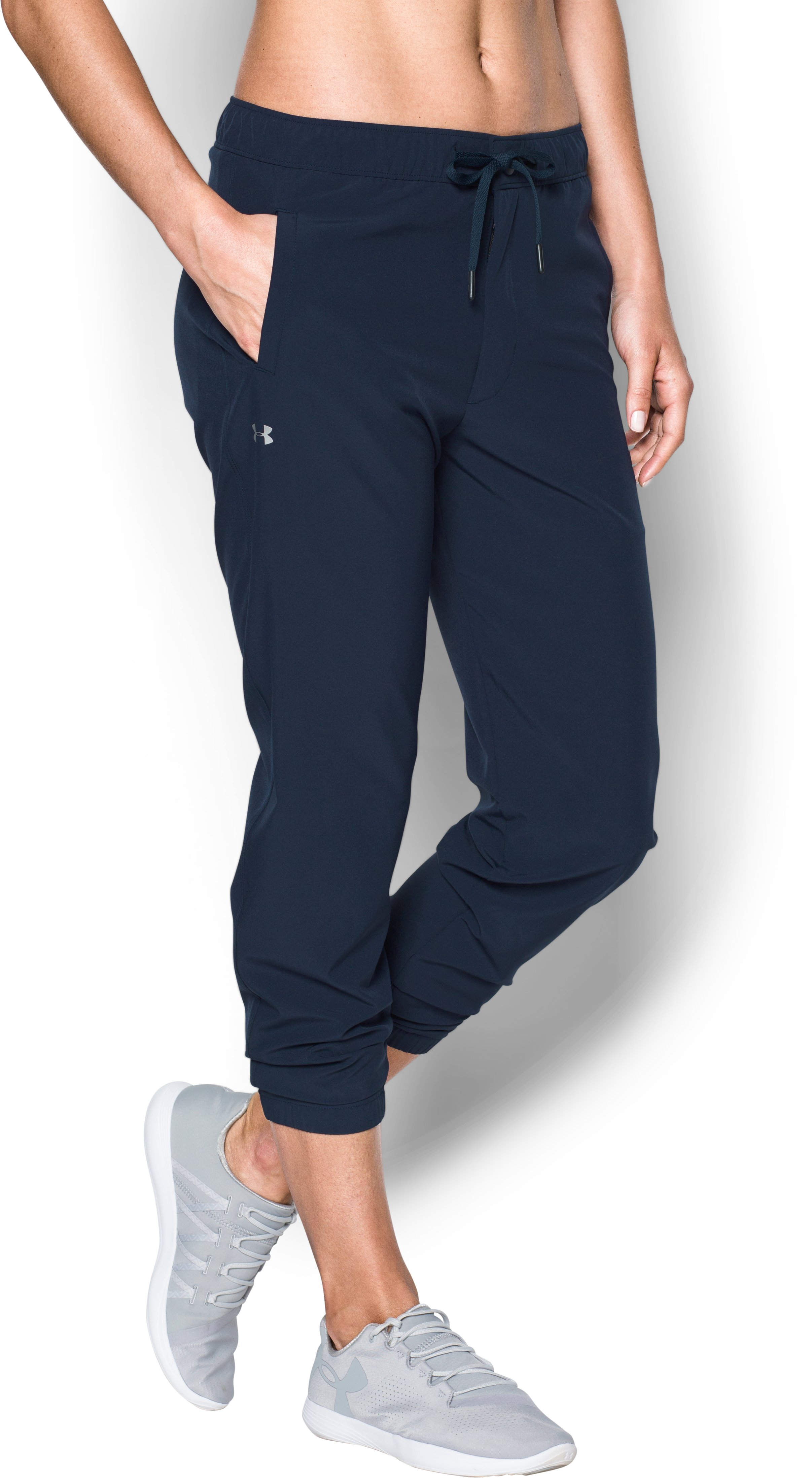 Women's UA Easy Pants, Midnight Navy, zoomed image