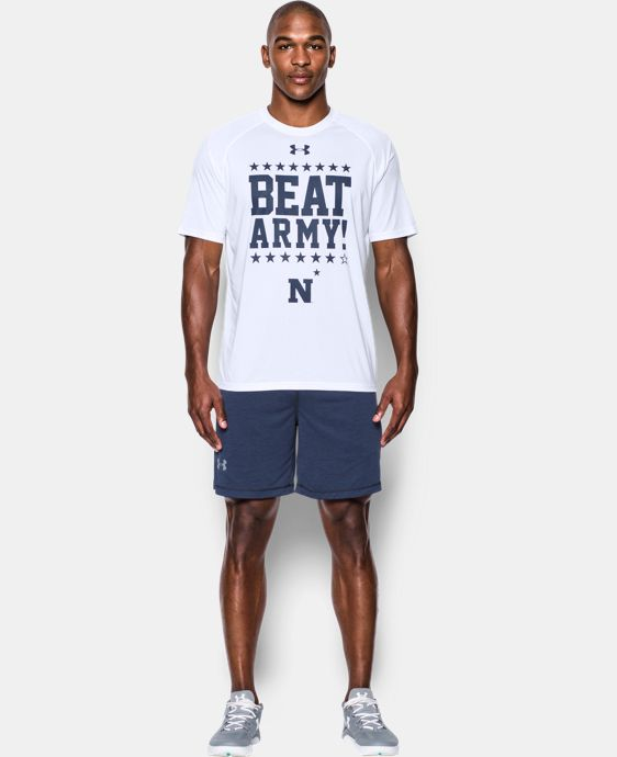 Men's Navy UA Tech™ Beat Army T-Shirt  1 Color $30