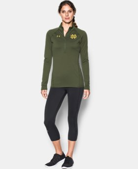 Women's Notre Dame Shamrock UA Tech™ 1/2 Zip  1 Color $54.99