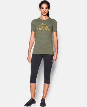 Women's Notre Dame God's Country UA Charged Cotton® Tri-Blend T-Shirt  1 Color $35.99