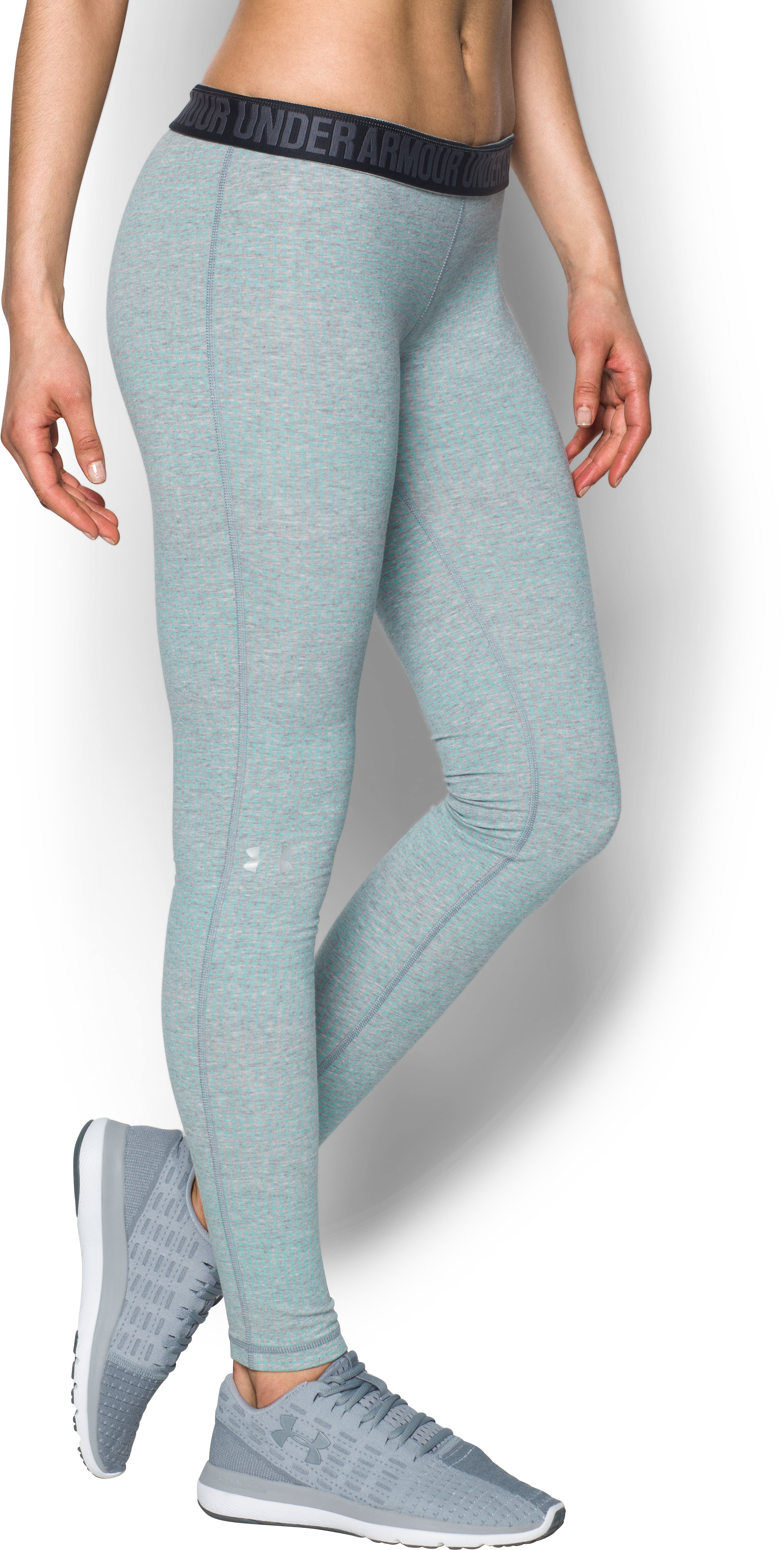 Women's UA Favorite Print Leggings, True Gray Heather