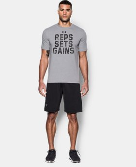 New Arrival Men's UA Reps, Sets, Gains T-Shirt  1 Color $24.99