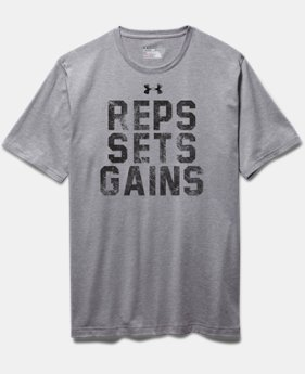 Men's UA Reps, Sets, Gains T-Shirt  1 Color $24.99