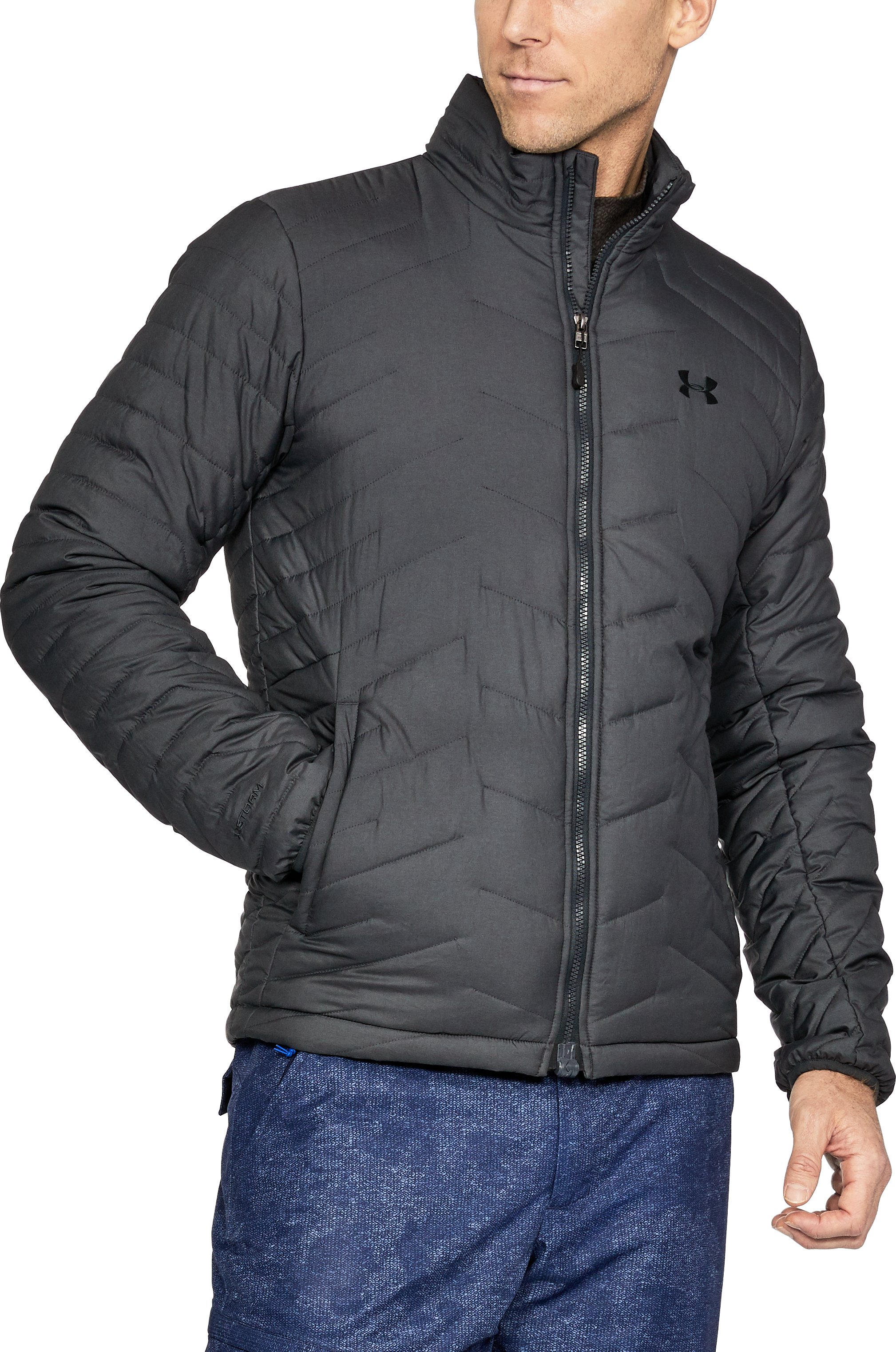 Men's ColdGear® Reactor Jacket, Carbon Heather