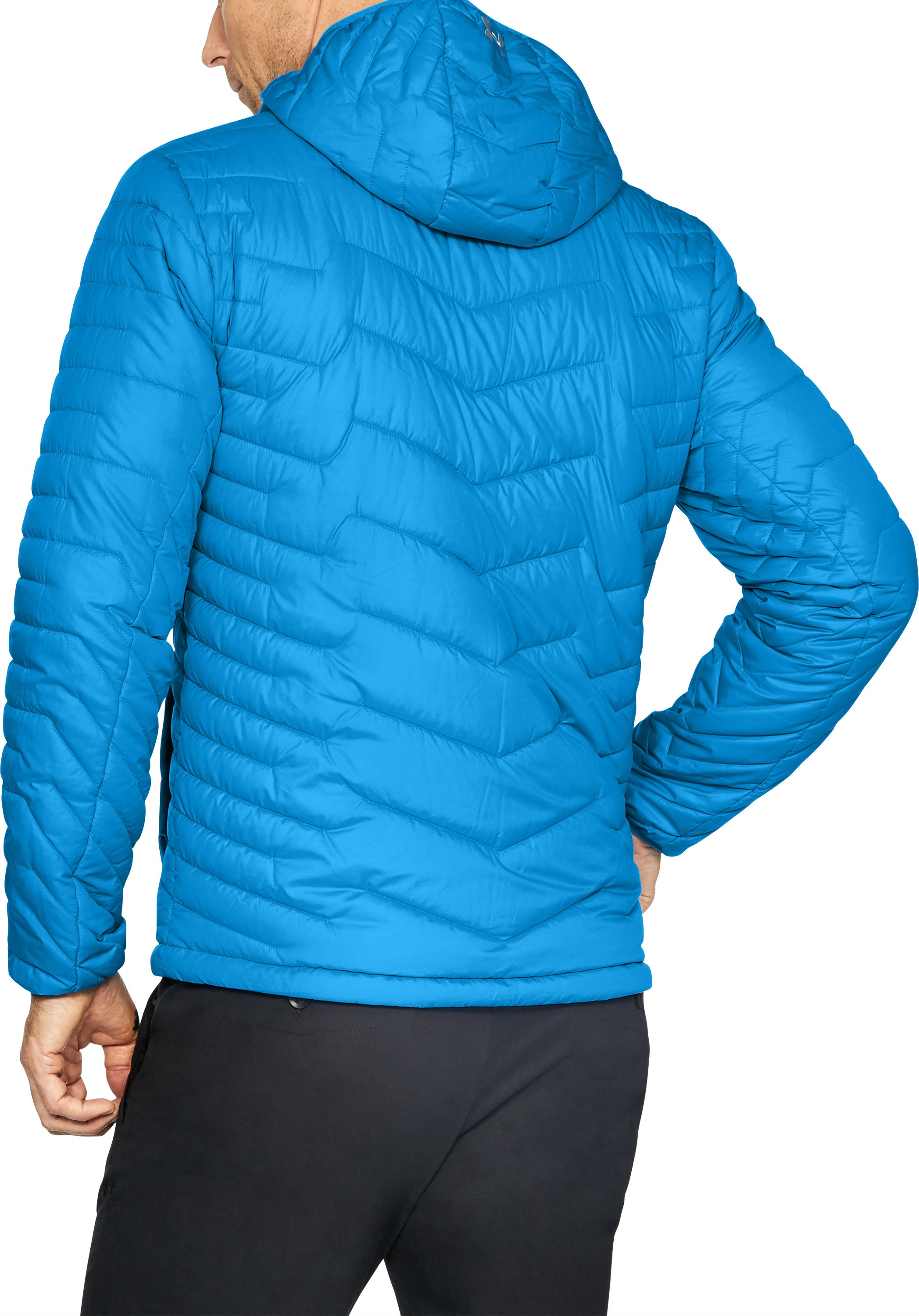 Men's ColdGear® Reactor Hooded Jacket, MAKO BLUE, undefined
