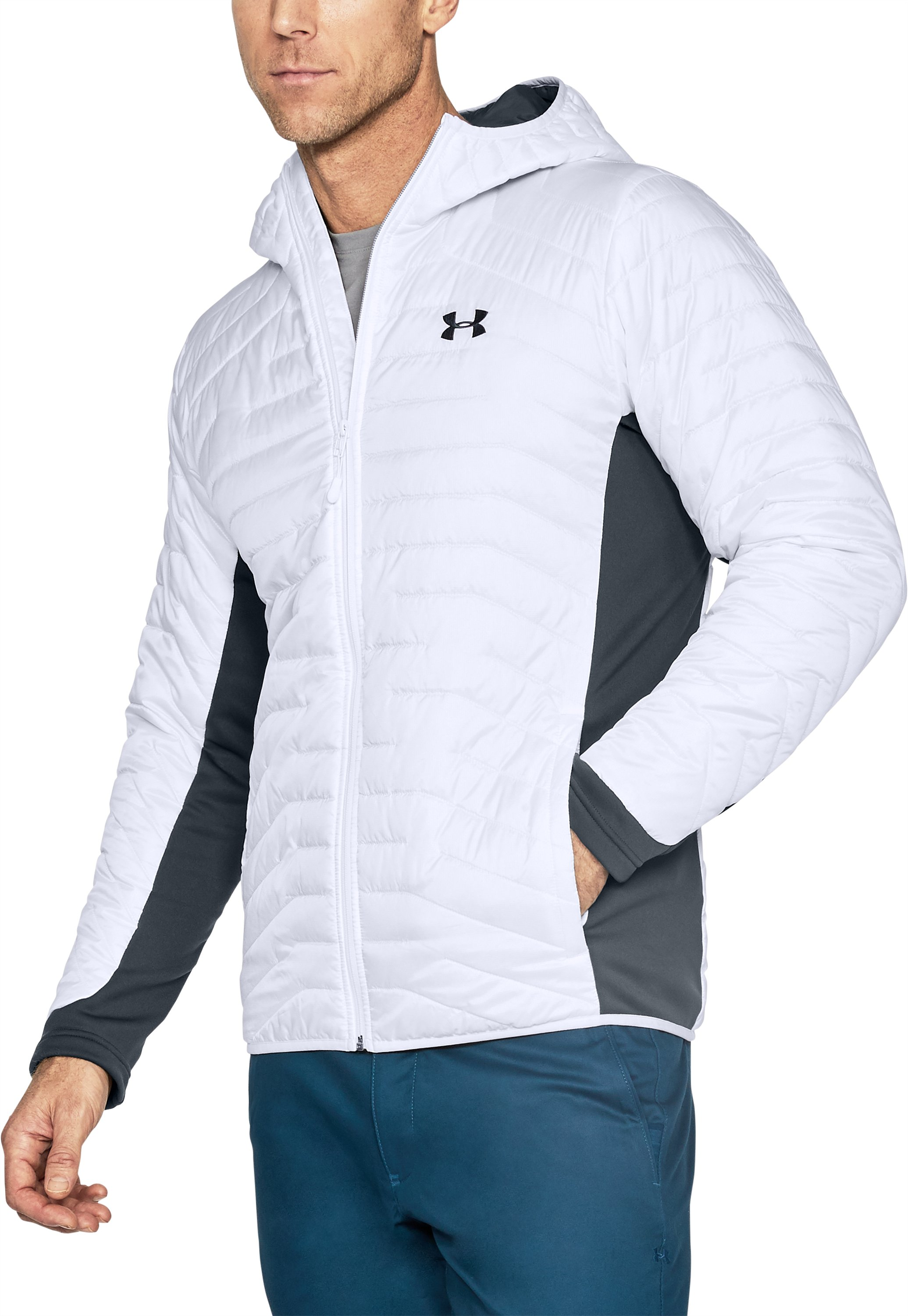 Men's ColdGear® Reactor Hybrid Jacket, White