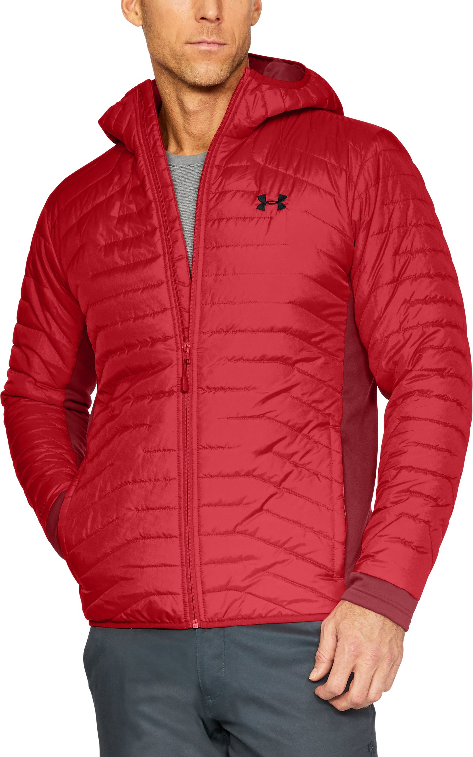 Men's ColdGear® Reactor Hybrid Jacket, Red, undefined