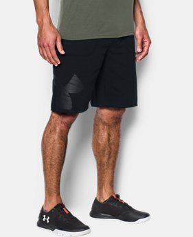 Men's UA Rival Fleece Exploded Logo Shorts  1  Color Available $39.99