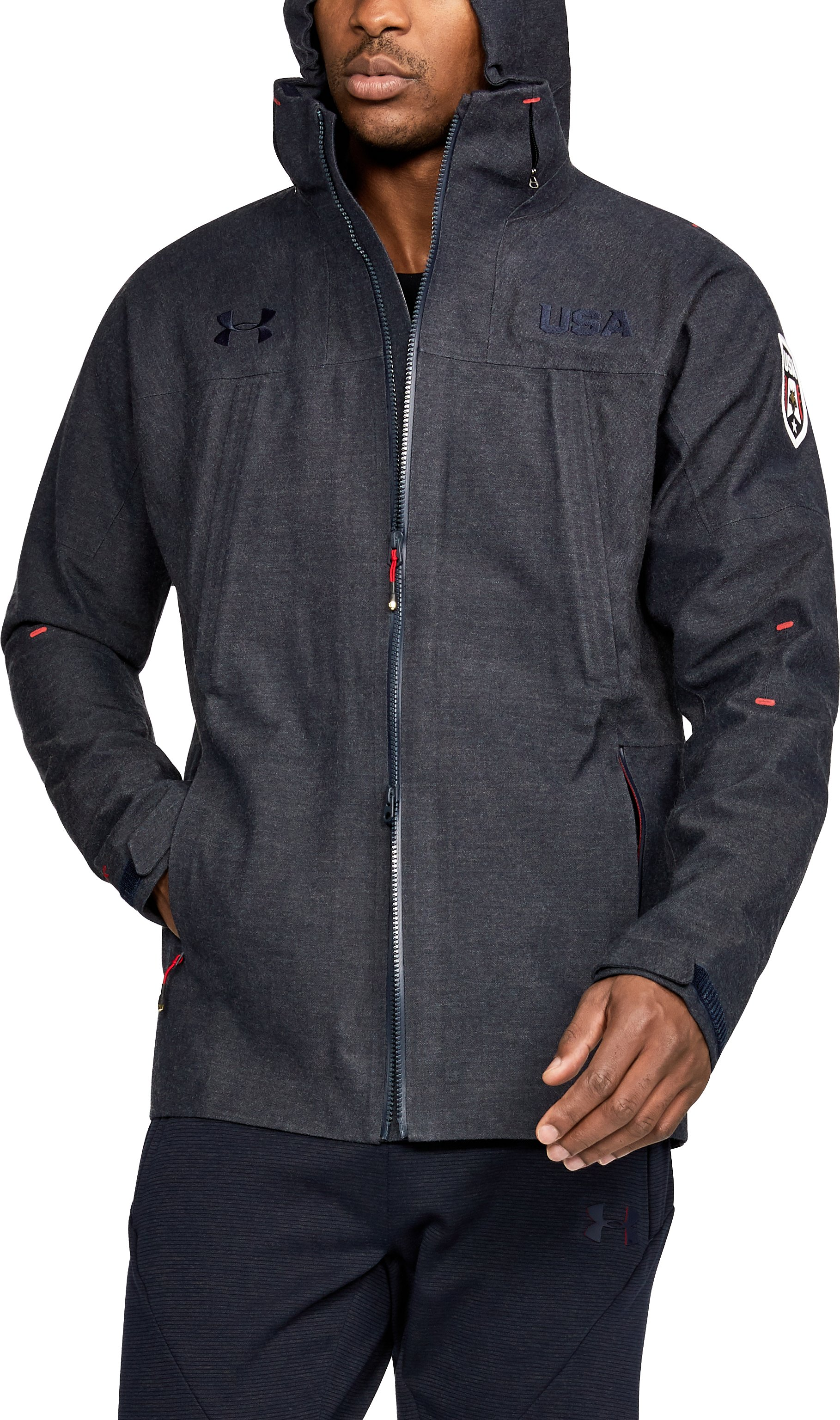 shell jackets Men's UA Stars & Stripes Shell Jacket Great Jacket....I get Compliments all the time on it....Quality is impeccable.