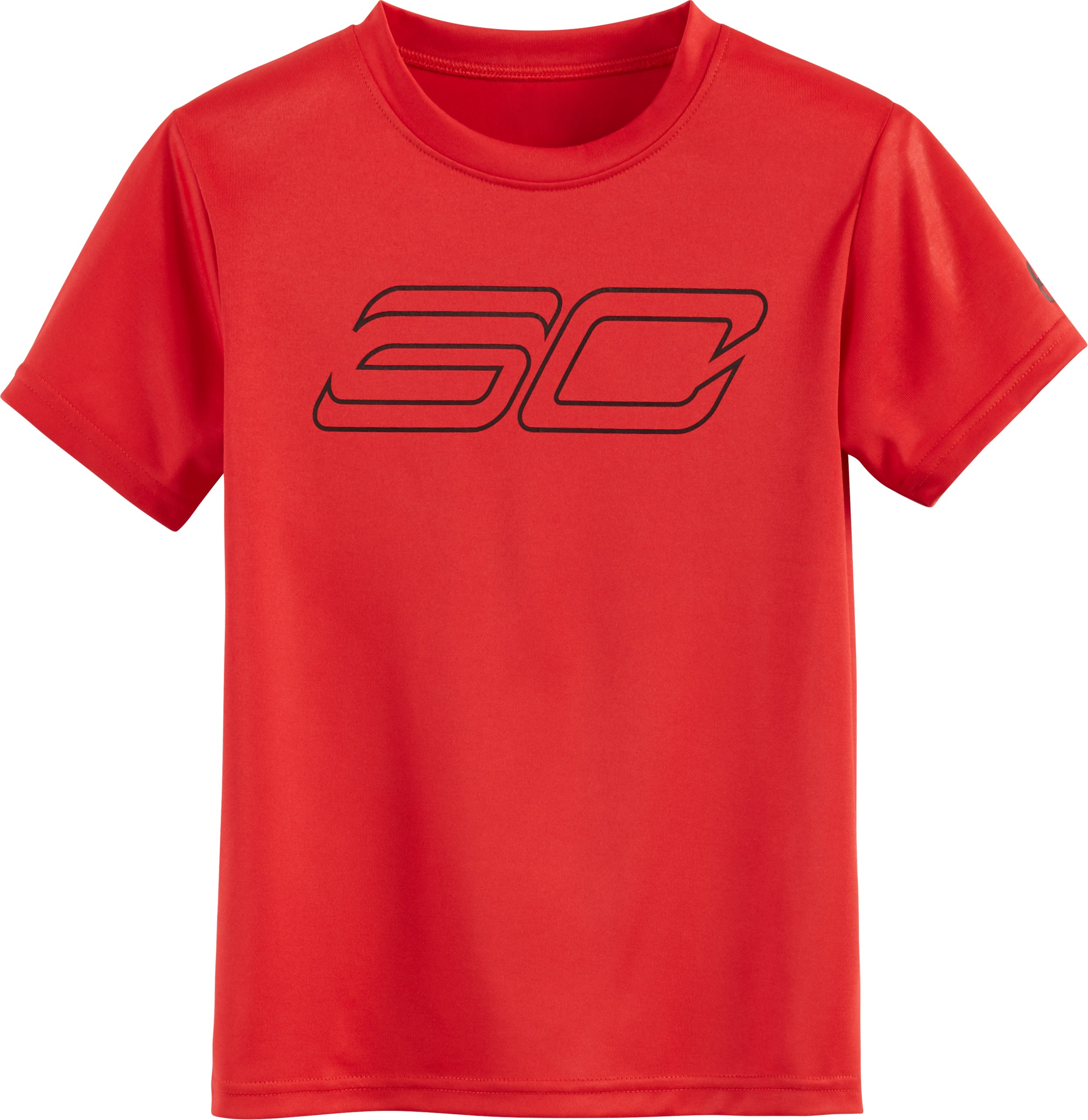 Boys' Pre-School SC30 Logo Short Sleeve Shirt, Red, zoomed image