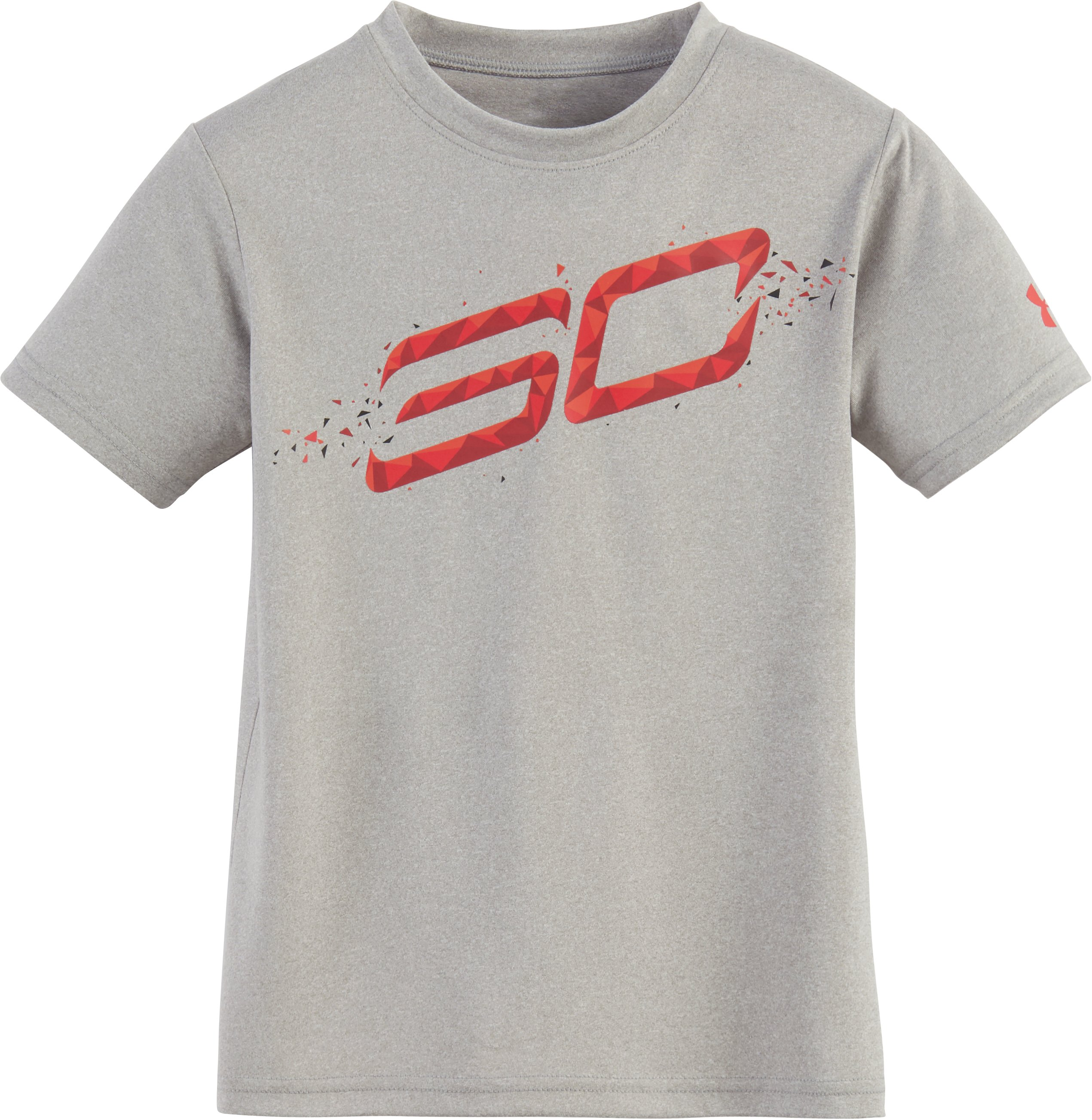 Boys' Pre-School SC30 Player Short Sleeve Shirt, True Gray Heather, Laydown
