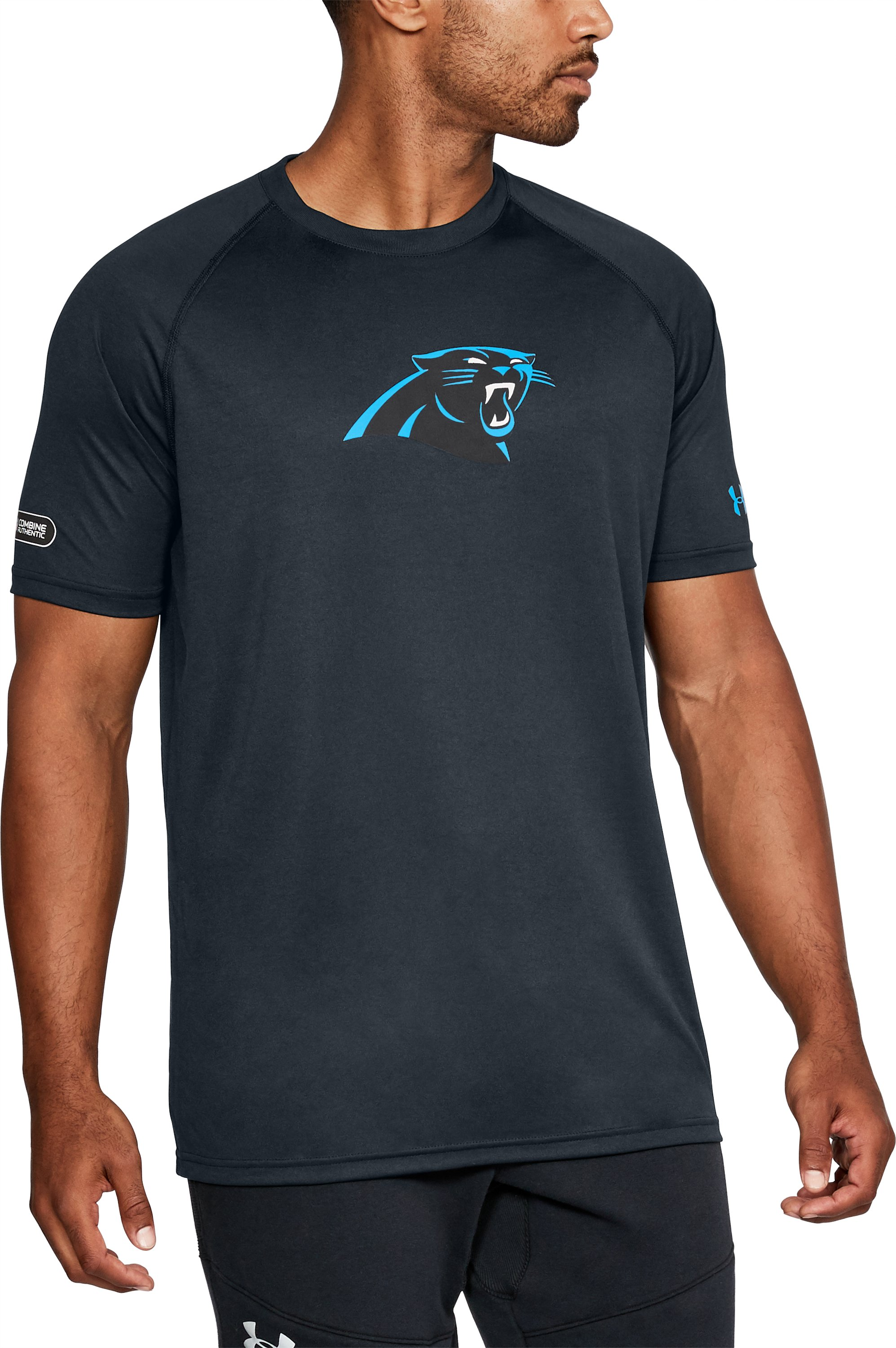Men's NFL Combine Authentic UA Logo T-Shirt, Carolina Panthers