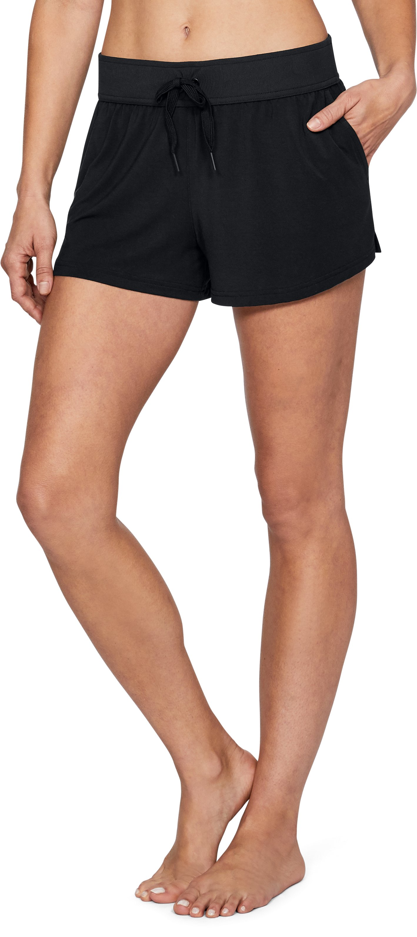 Women's Athlete Recovery Sleepwear Shorts, Black
