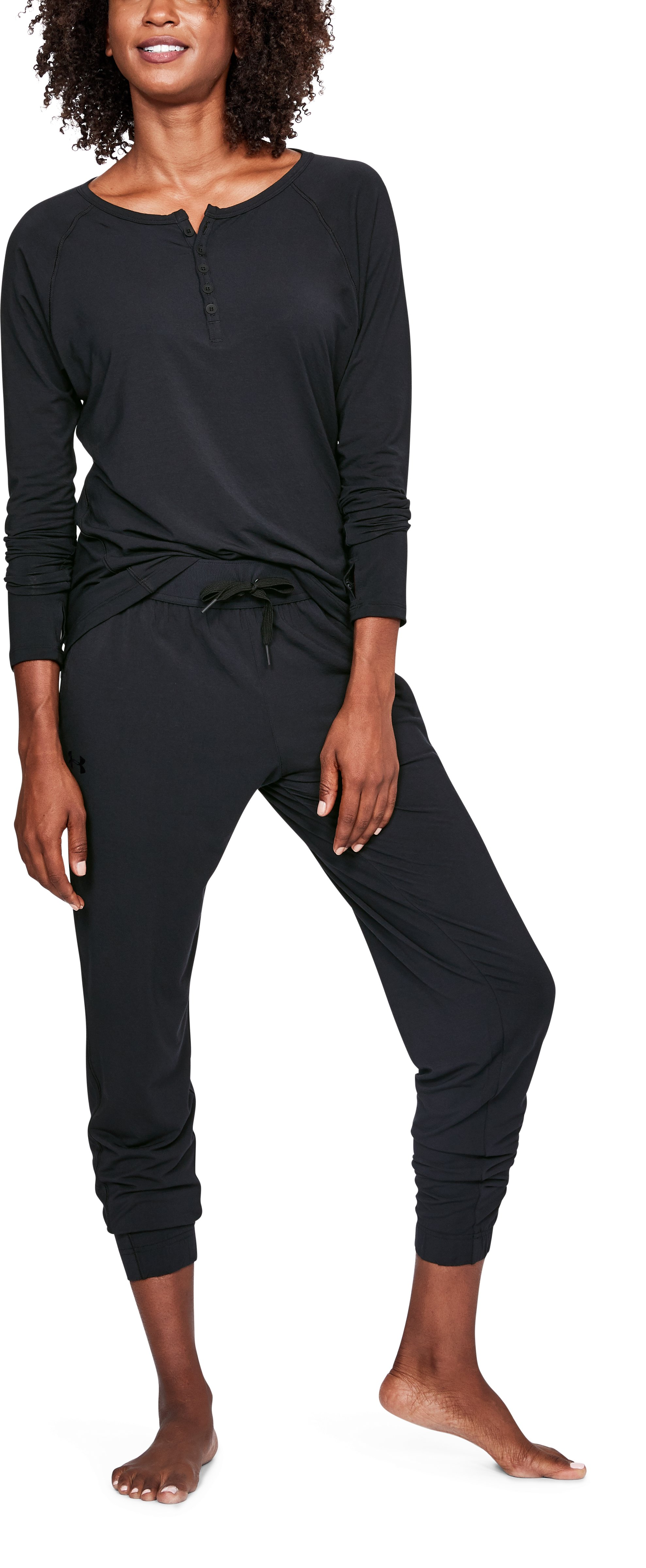 Women's Athlete Recovery Ultra Comfort Sleepwear Pants, Black , undefined