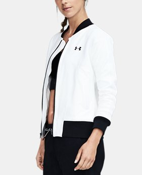 Women's UA Mixed Media Woven Bomber  1 Color $129.99
