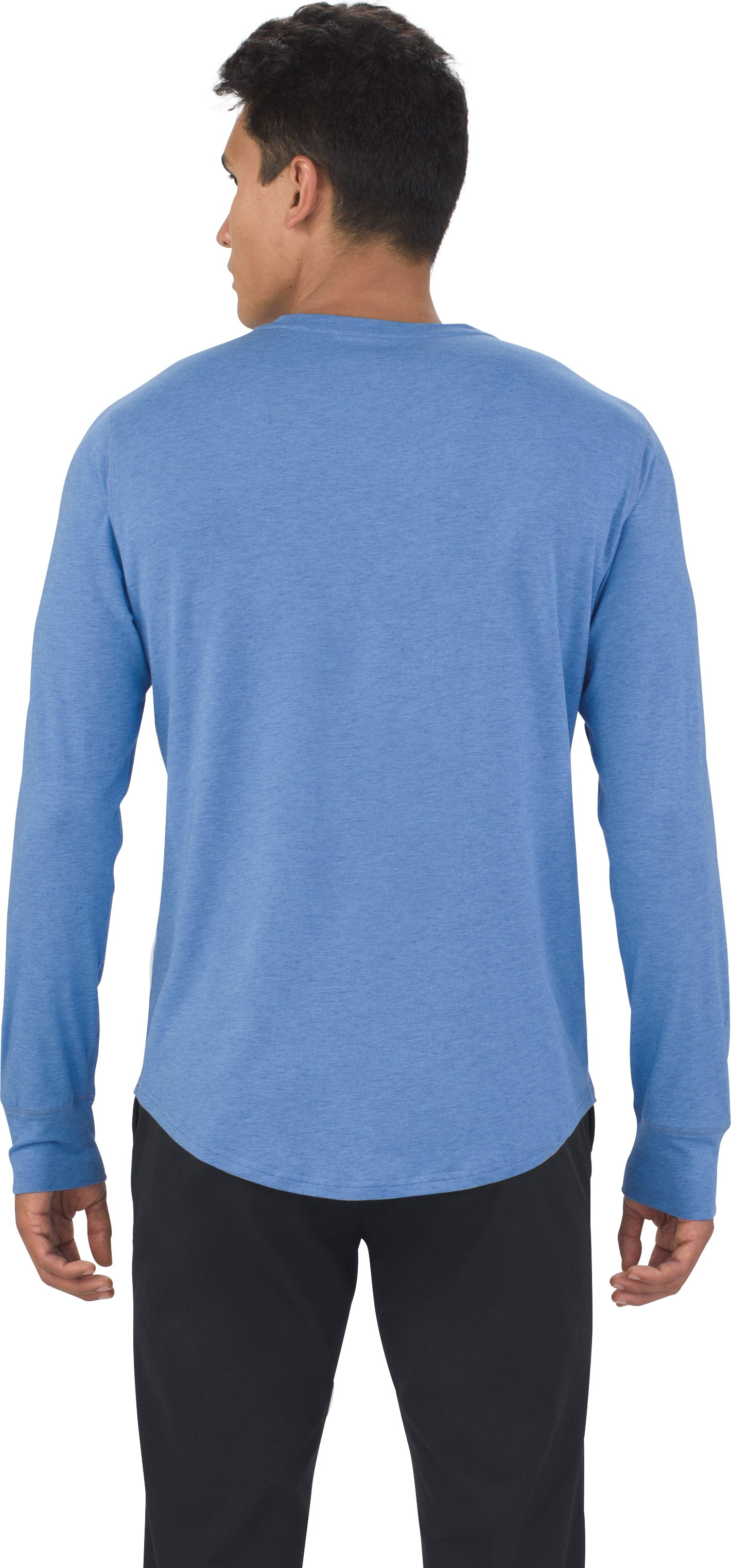 Men's UAS Highline Cashmere-Cotton Long Sleeve Henley, ROYAL LIGHT BLUE