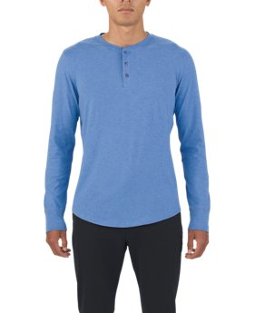 Men's UAS Highline Cashmere-Cotton Long Sleeve Henley  1 Color $80