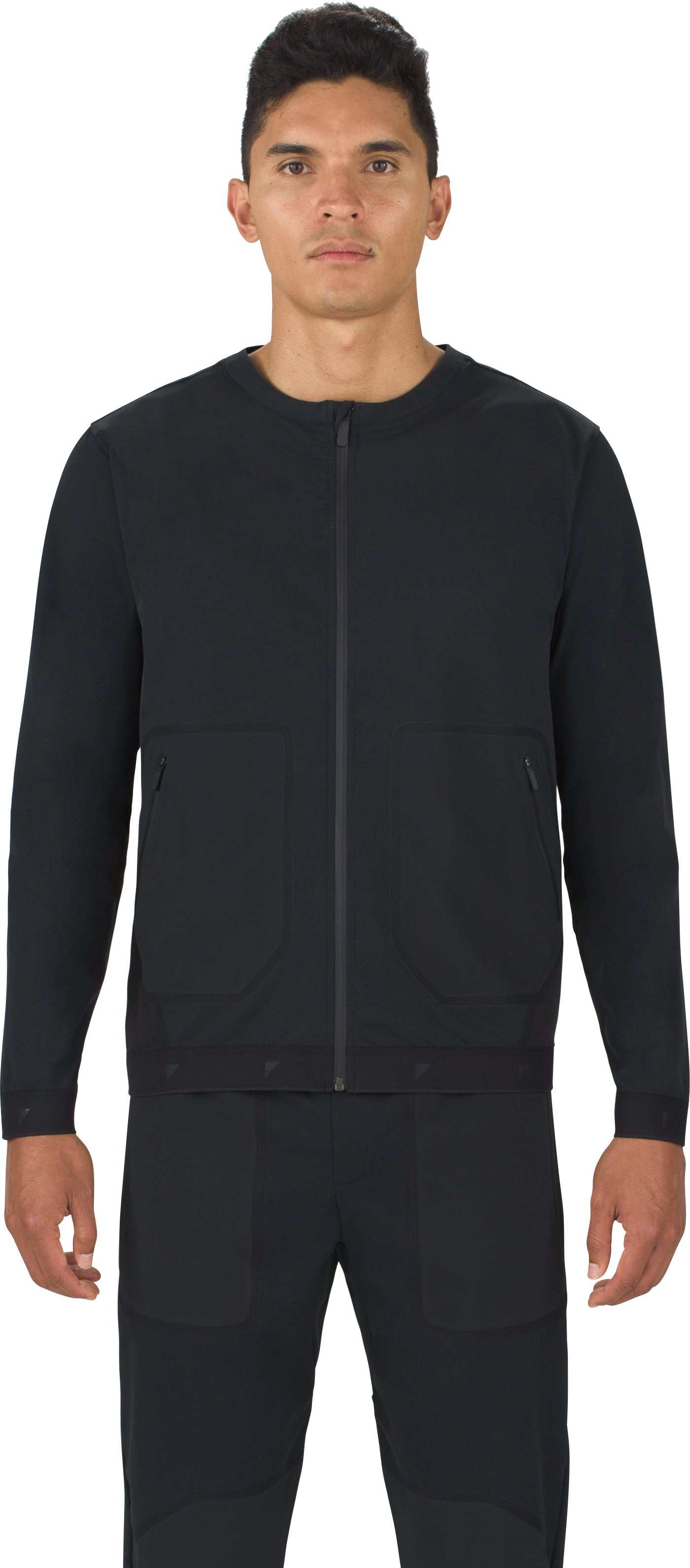 Men's UAS Pivot Stretch Crepe Bomber, Black , undefined