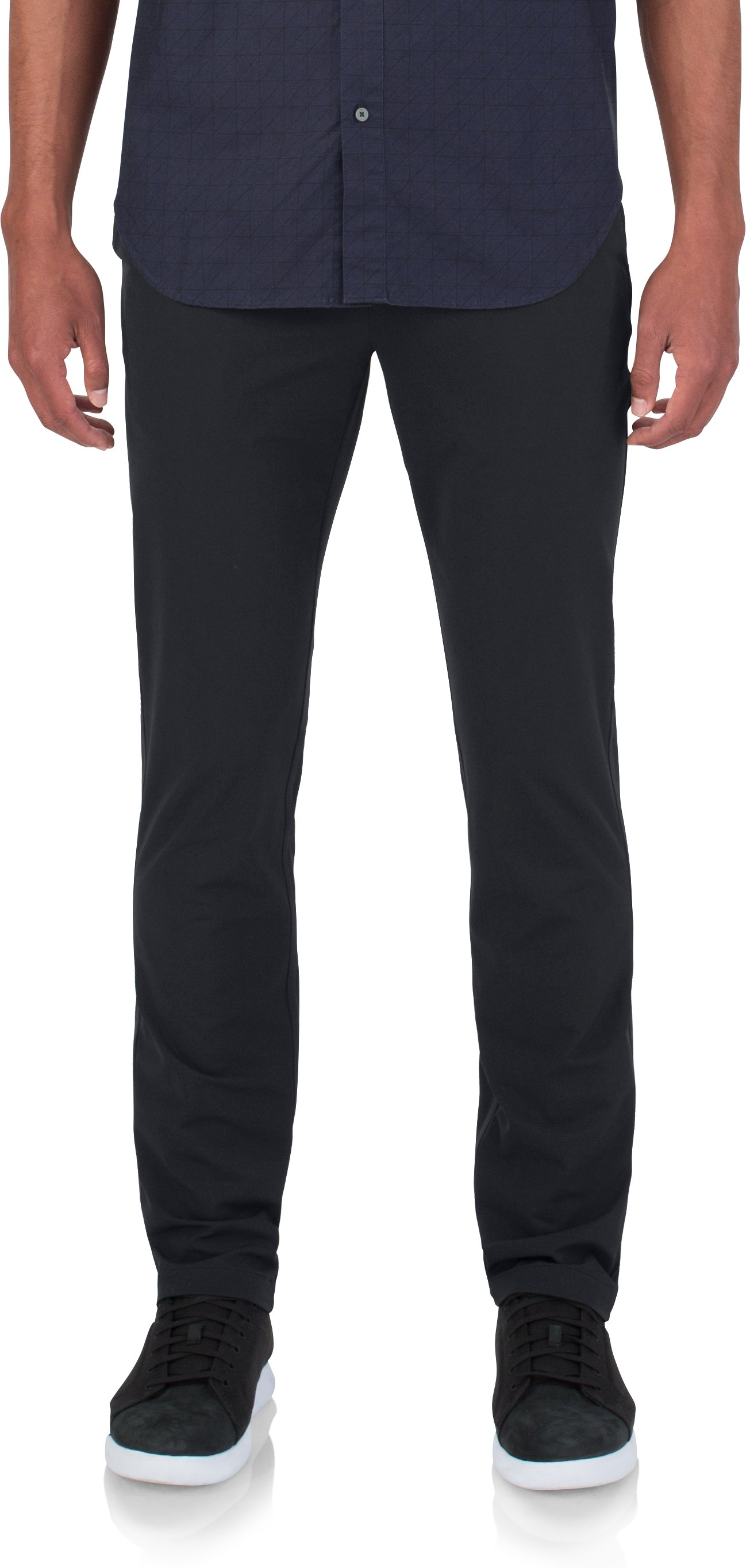 Men's UAS Fieldhouse Crepe Chinos, Black , zoomed image