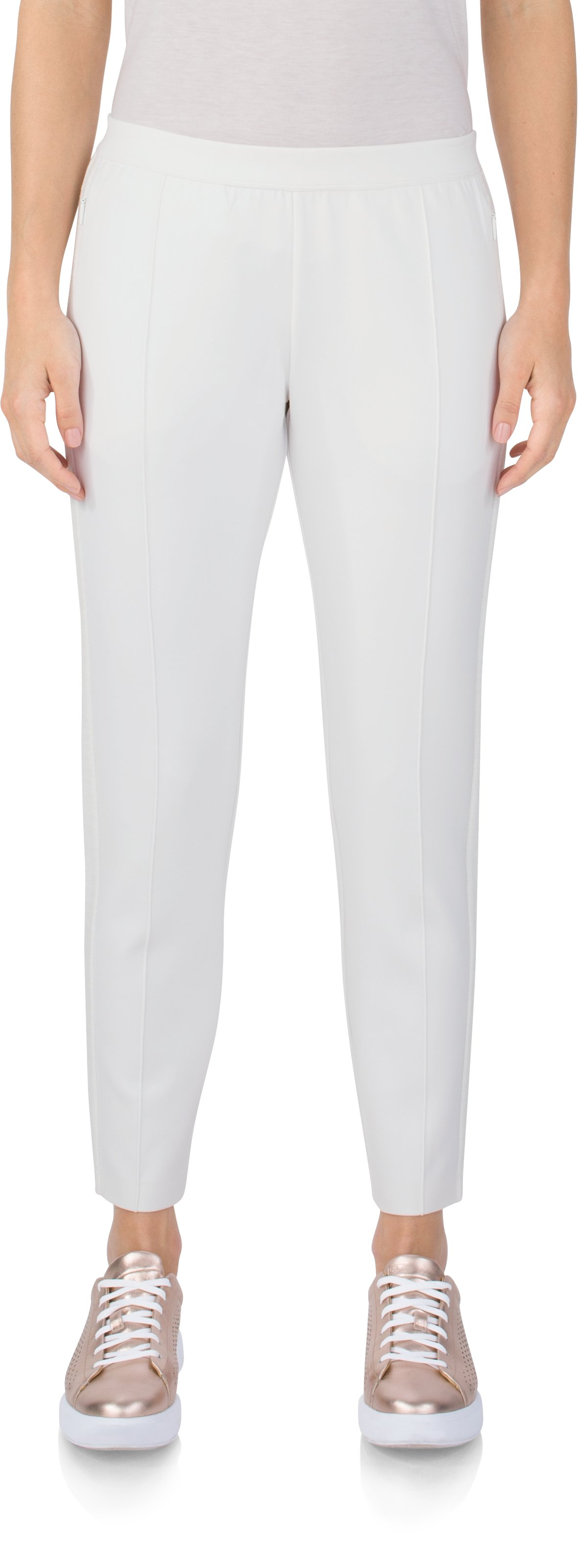 Pull On Pant - Scuba, White, zoomed image
