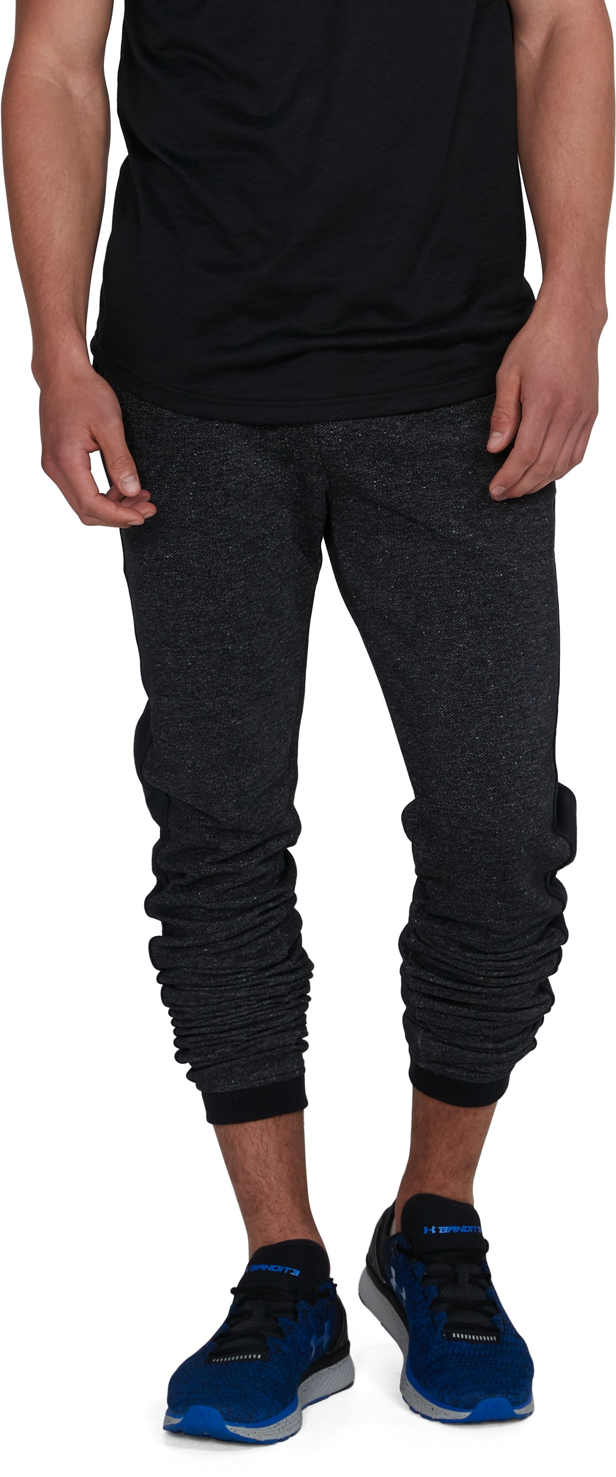 Men's UA Sportstyle Stacked Terry Joggers, Black ,