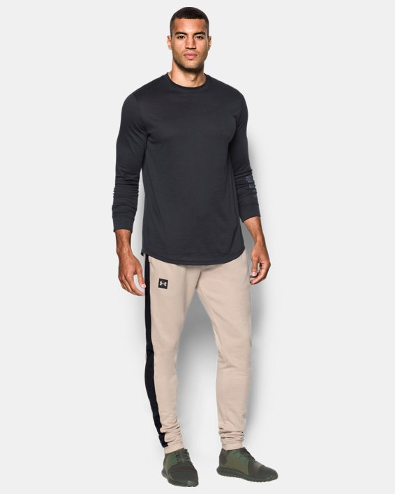 Men's UA Sportstyle Stacked Terry Joggers, Brown, pdpMainDesktop image number 2