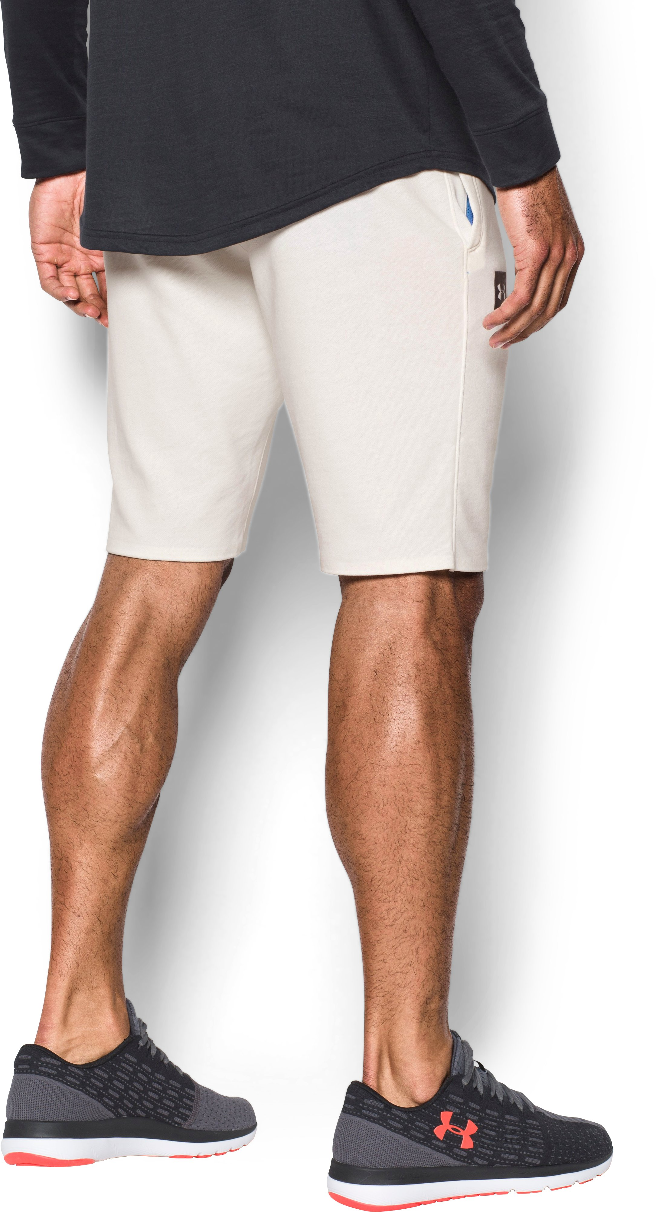 Men's UA Sportstyle  Terry Tapered Shorts, Ivory, undefined