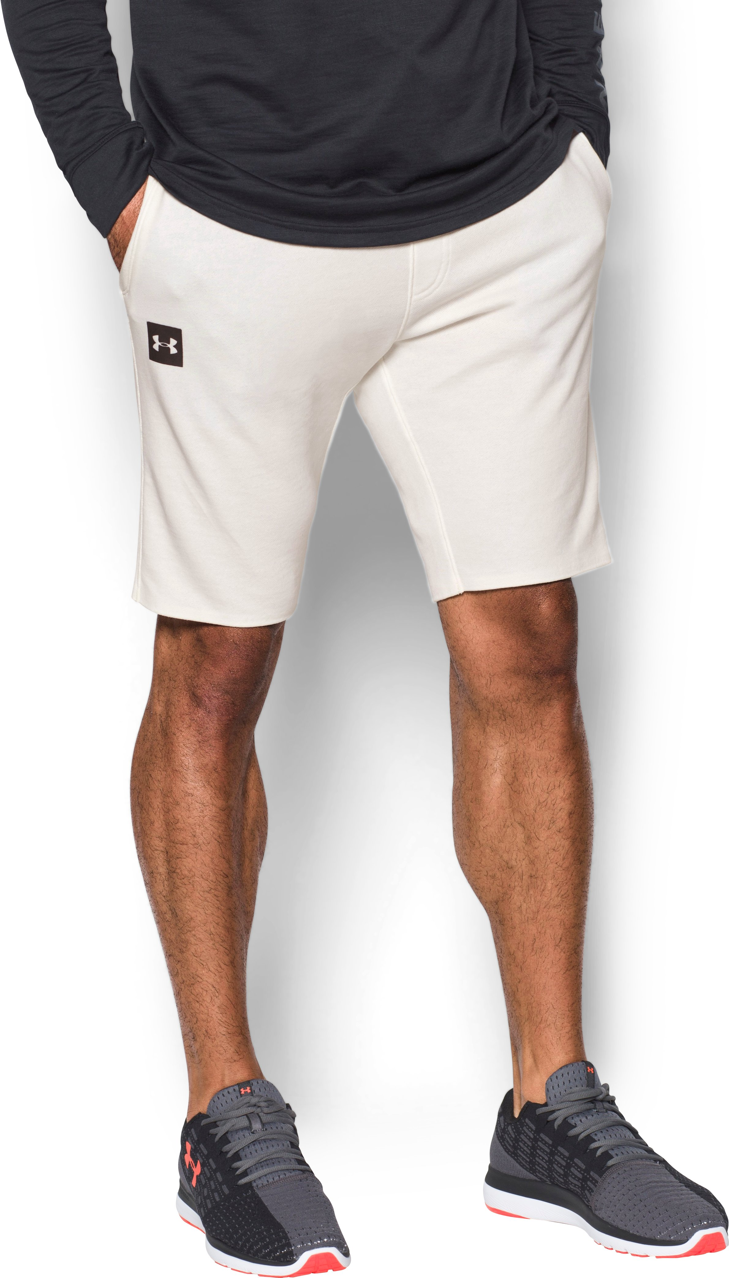 Men's UA Sportstyle  Terry Tapered Shorts, Ivory