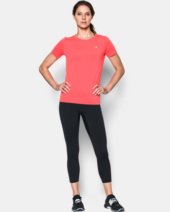 Women's UA Threadborne™ Seamless Crop, Black, pdpMainDesktop image number 2
