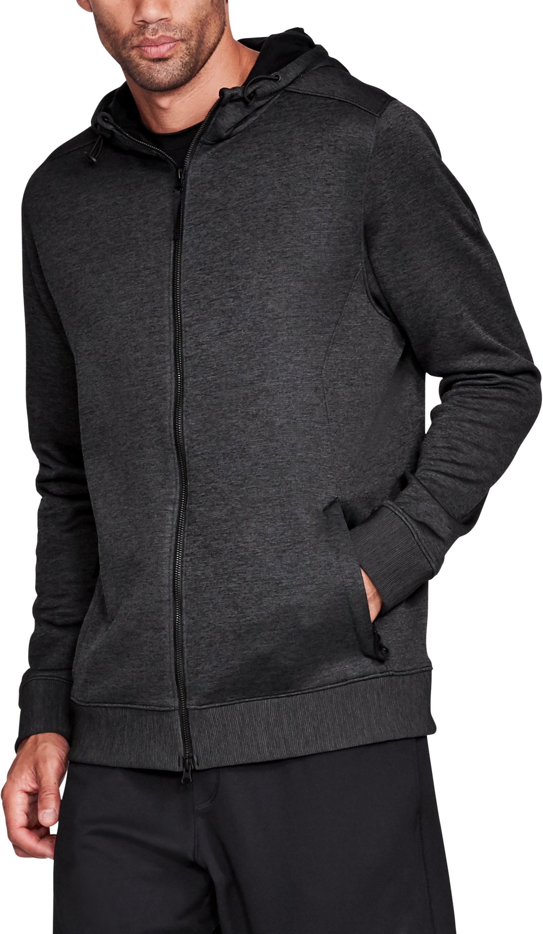 Men's UA Sportstyle SweaterFleece Full Zip, Black