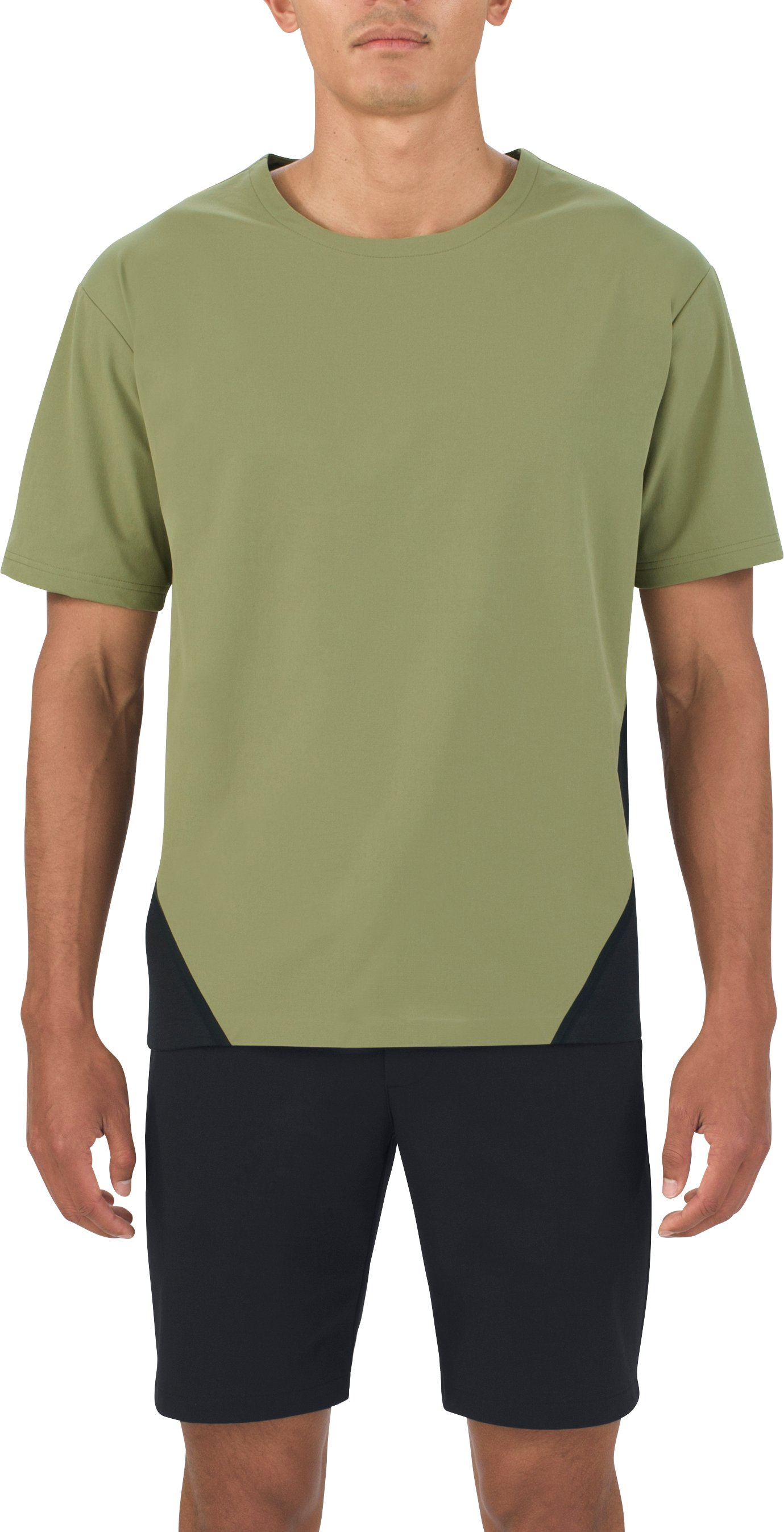 Men's UAS Pivot Crepe Short Sleeve Sweatshirt, MILITARY