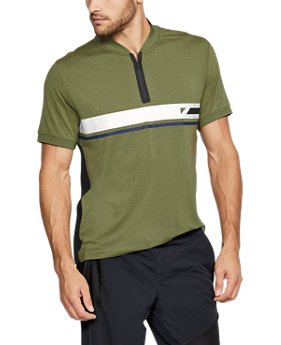 Men's UAS Tech Zip Stripe Polo  1 Color $100
