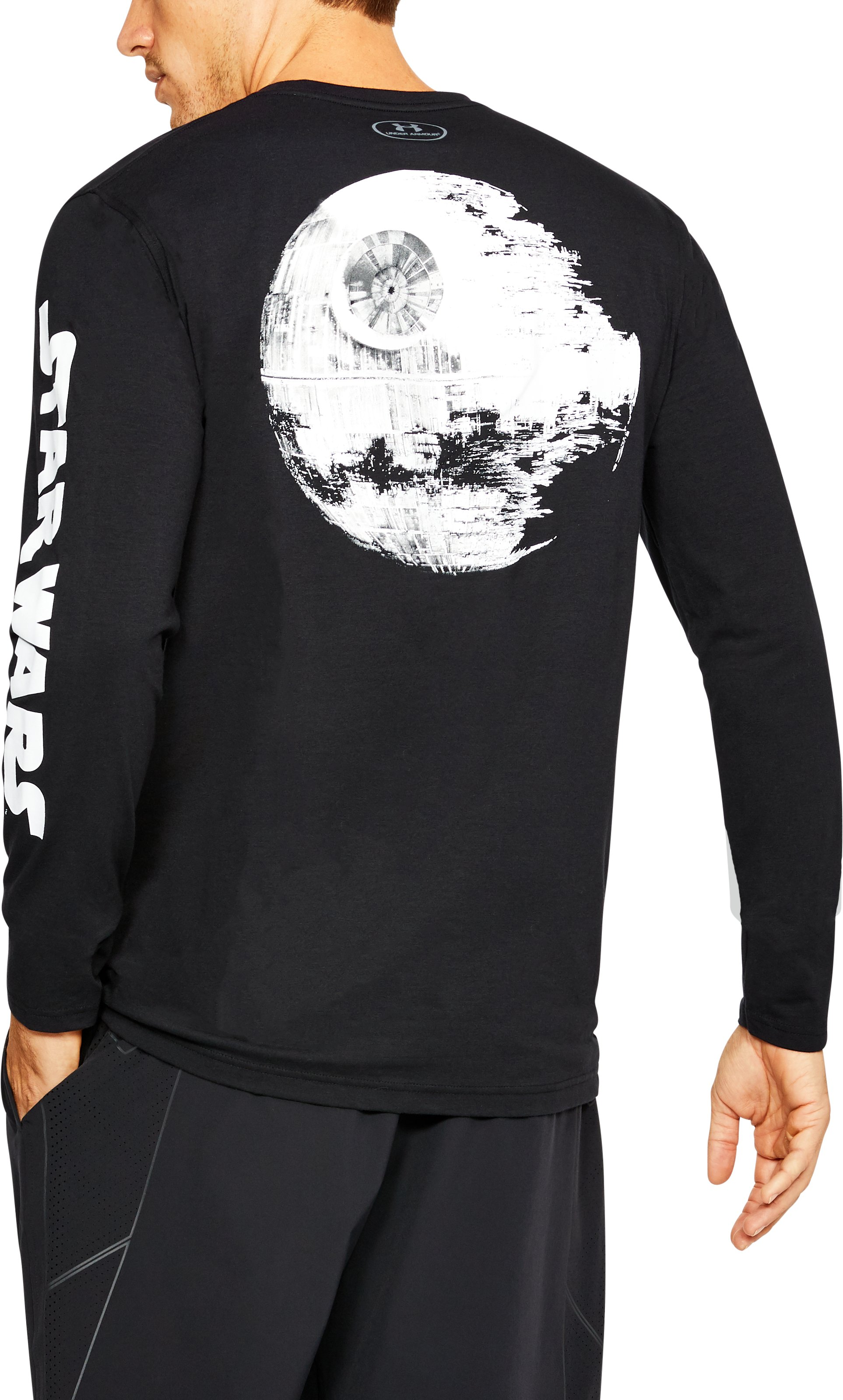Men's UA Star Wars Death Star Long Sleeve T-Shirt, Black ,