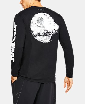 New Arrival Men's UA Star Wars Death Star Long Sleeve T-Shirt  1 Color $39.99