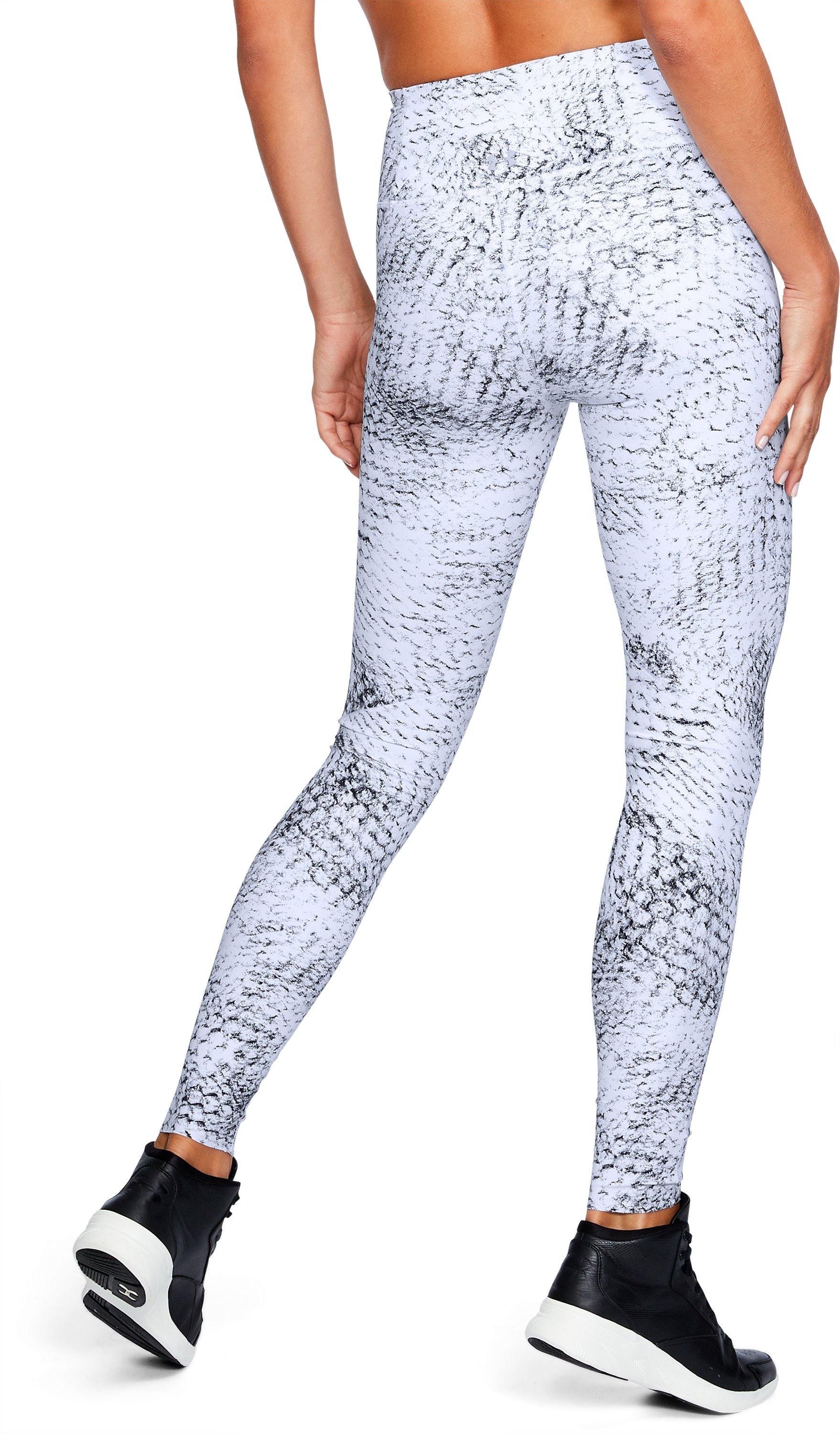 Women's UA BreatheLux Printed Legging, White, undefined