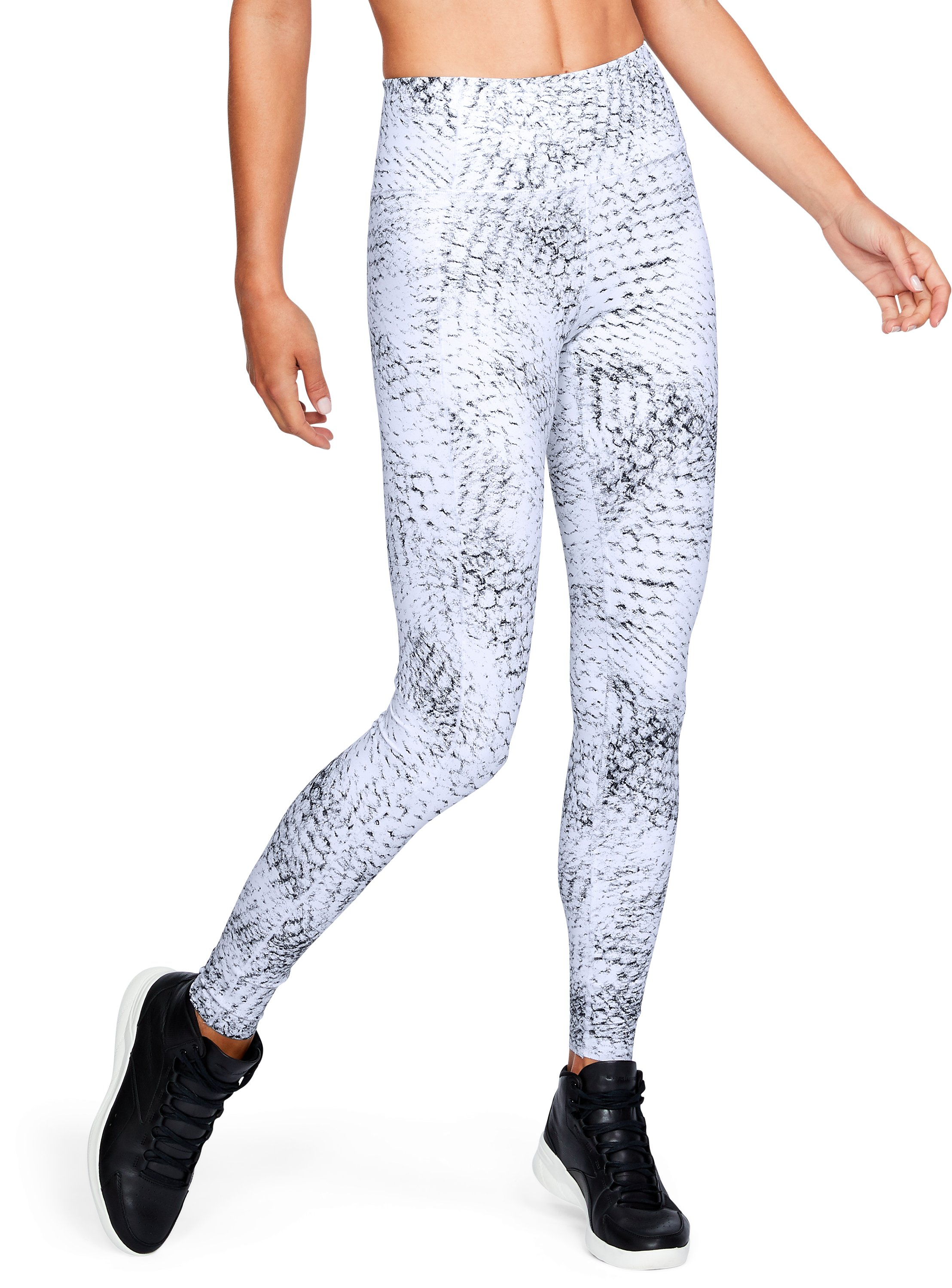 Women's UA BreatheLux Printed Legging, White,
