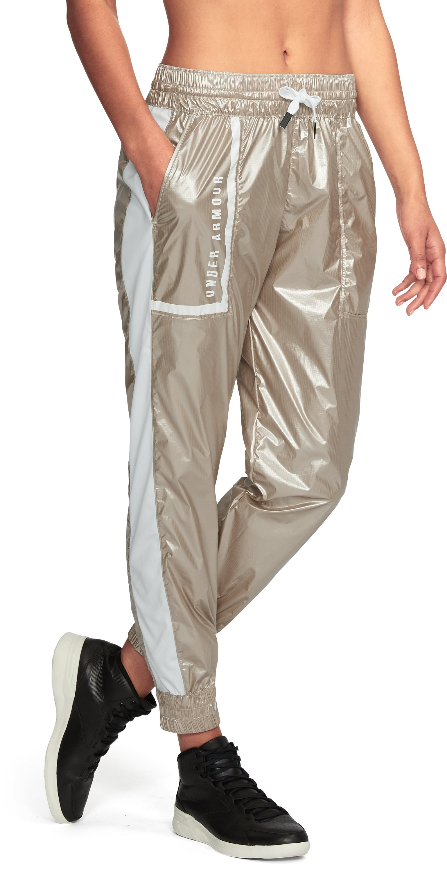 Women's Misty Metallic Jogger, Metallic Gold