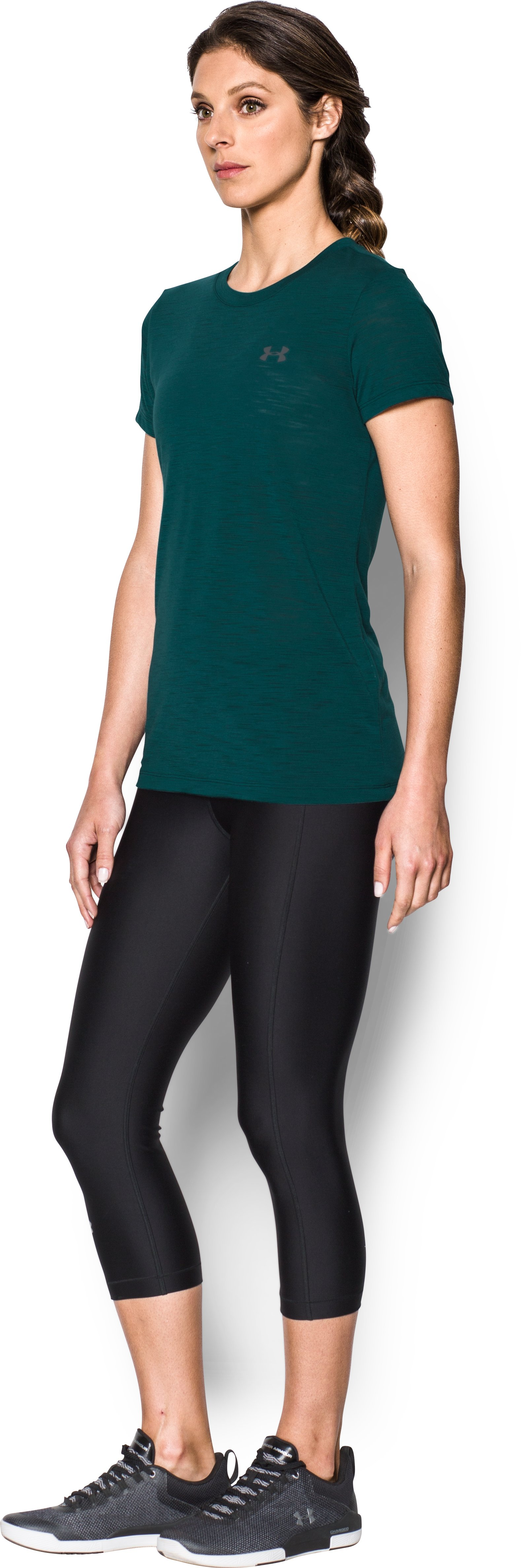 Women's UA Threadborne™ Train Slub T-Shirt, ARDEN GREEN,