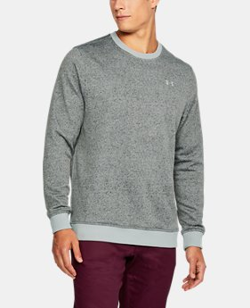 Men's UA Storm SweaterFleece Patterned Crew LIMITED TIME OFFER 4 Colors $59.49
