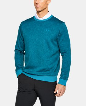 Men's UA Storm SweaterFleece Patterned Crew  1  Color Available $50.99 to $63.74