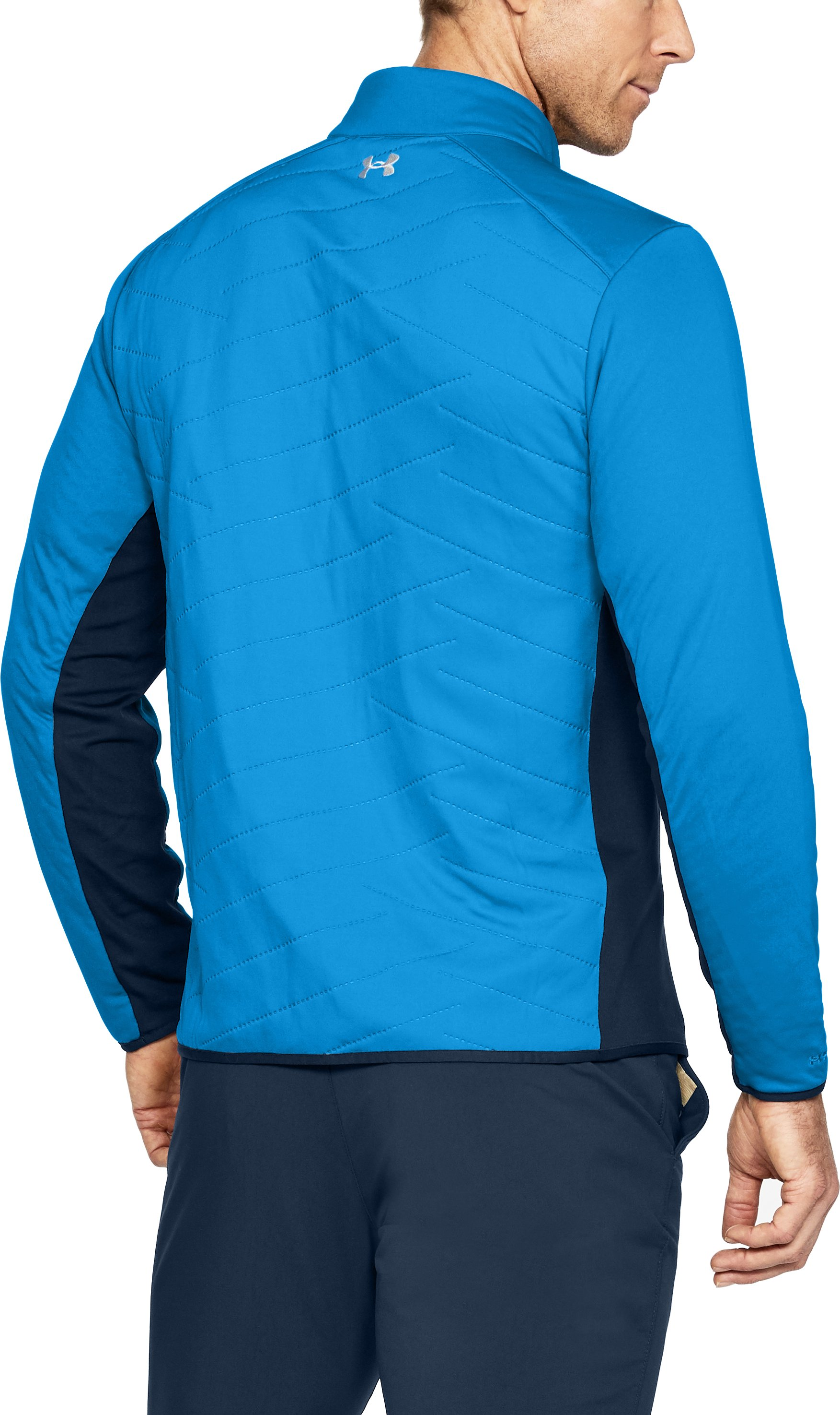 Men's ColdGear® Reactor Hybrid ½ Zip, MAKO BLUE, undefined