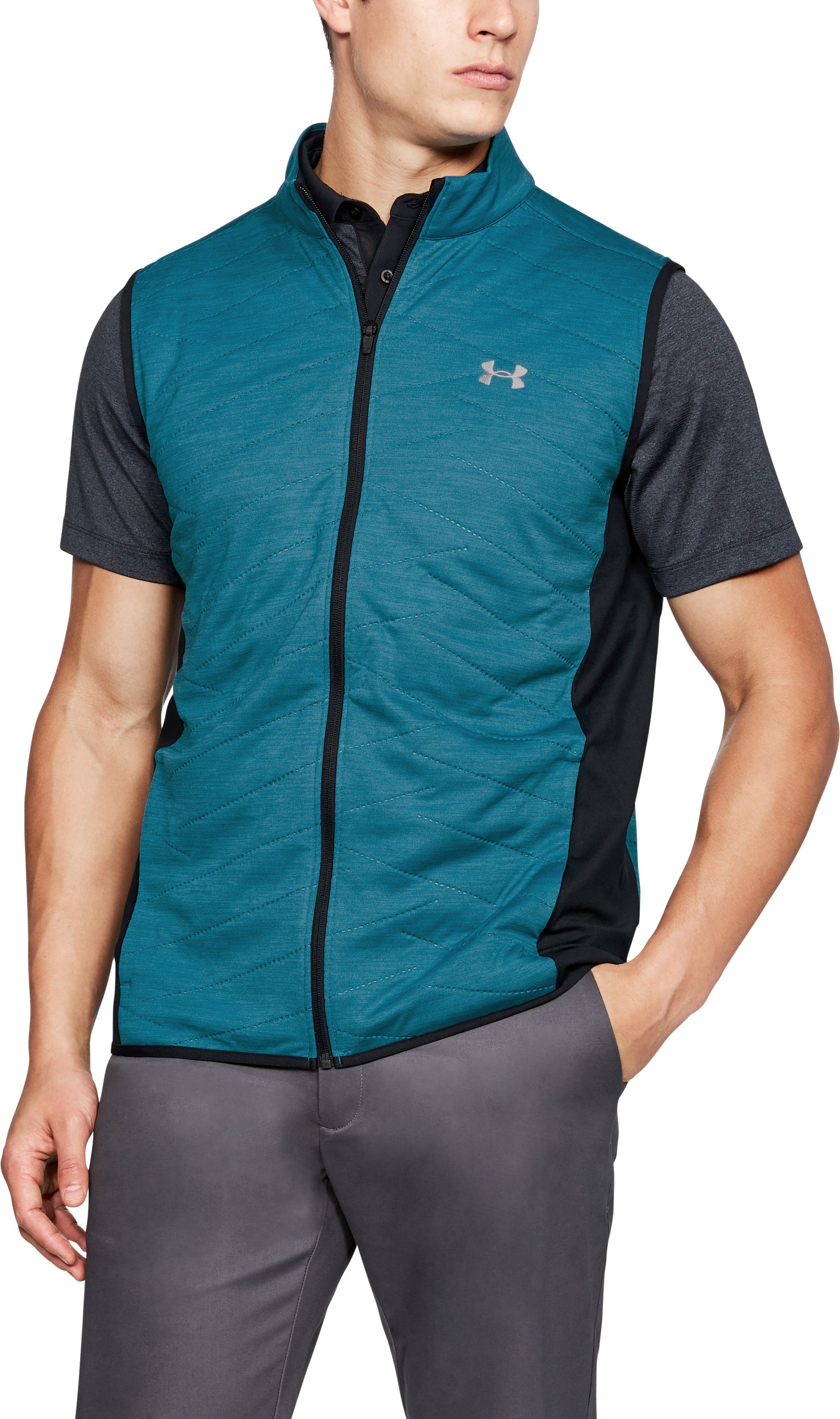Men's ColdGear® Reactor Hybrid Vest, BAYOU BLUE, undefined