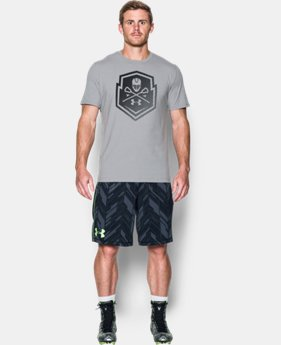 New Arrival Men's UA Lax Crest T-Shirt LIMITED TIME: FREE SHIPPING 1 Color $24.99